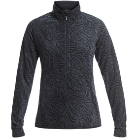 Roxy Cascade Fleece Oberteil Damen true black zebra print
